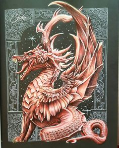 Image result for colored color my sketchbook dragons