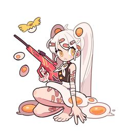 I relly like design of this character and how the artist uses the egg ass a key point in the design. The detail of her being cover in bandages because eggs a frail. Character Drawing, Character Illustration, Character Concept, Arte Do Kawaii, Kawaii Art, Cute Art Styles, Cartoon Art Styles, Chibi, Cartoon Kunst