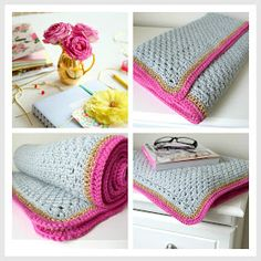 Buzz and Lola: Crocheted Lounging Blanket