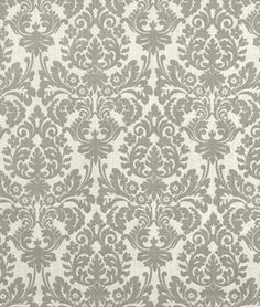 Tempo Damask Black, also try Magnolia Home Fashions Deco Onyx for living room curtains Damask Curtains, Drapery Fabric, Curtain Patterns, Fabric Patterns, Damask Wallpaper, Custom Window Treatments, Home Decor Fabric, French Decor, Window Design