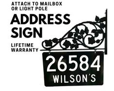 Mailbox Address Sign - Reflective Double sided house numbers with rose scroll - 911 Visible - Attach to Mailbox or Light pole mount Address Numbers, Address Signs, Mailbox Makeover, House Numbers, Rose, Art, Art Background, Pink, Kunst
