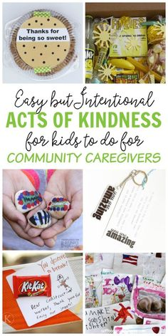 9 Easy but Intentional Acts of Kindness Kids can do for Community Caregivers - like police, fire fighters, nurses, teachers, and childcare workers - #sponsored #25Days25Ways