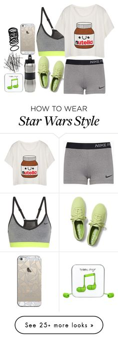 """""""Home Workout"""" by applejice221 on Polyvore featuring NIKE, Keds, Zak! Designs, Casetify, H&M and Happy Plugs"""