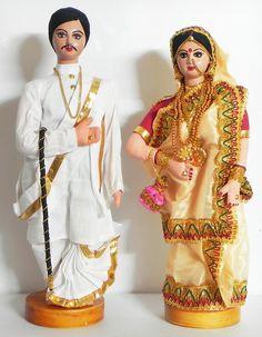 Bengali Couple (Cloth) Doll Crafts, Diy Doll, Summer Arts And Crafts, Wedding Anniversary Wishes, Bengali Bride, Long Dress Design, Homemade Dolls, Wedding Doll, Indian Dolls