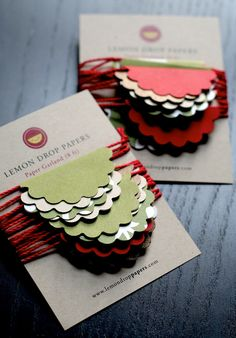 Paper Garland - Scalloped Circles. Holiday Colors. Party Decoration @Holly Elkins Davis