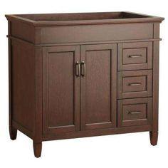 Ashburn 36 in. W x 21.625 in. D x 34 in. H Vanity Cabinet Only in Mahogany