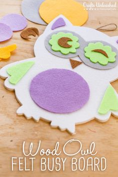 Make this super easy Wood Owl Felt Busy Board to entertain kids on the go! Also makes a great room wall decor!