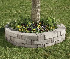 Image result for planters around trees (garden beds around trees) #landscapearoundhouse