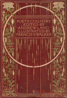 detail from the cover of Poet's Country 1904 design by AA Turbayne