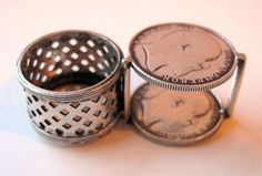 Vintage British Indian Silver Rupee Coin Box- Edward VII-1907. $169.00, via Etsy.