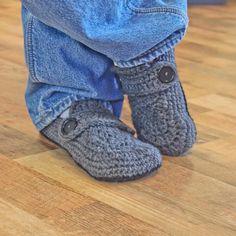 Instant Download  Crochet Pattern  Opa Slippers by Mamachee, $5.50