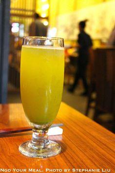 Homemade Green Tea at Ootoya