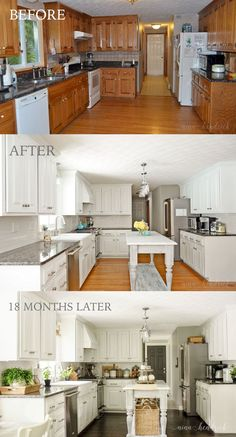 Love the after. But would definitely have chosen a different color besides white.