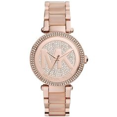 Women's Michael Michael Kors 'Parker' Bracelet Watch, 39Mm (3.944.740 IDR) ❤ liked on Polyvore featuring jewelry, watches, rose gold, polish jewelry, pave jewelry, rose gold bracelet watch, rose gold watch bracelet and bezel watches