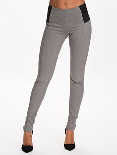 Dolly Leggings - Selected Femme - Medium Grey Melange - Pantalons & Shorts - Vêtements - Femme - Nelly.com La Mode En Ligne Sur Internet