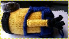 Knitted Minion   Knitting   Basic Knitted Fabrics   Free 30-day Trial   Scribd Basic Knitted Fabrics, Knitted Doll Patterns, Knitted Dolls, Knitted Hats, Knitting Patterns, Minion Toy, Minions, Knitted Flowers Free, Art Decor