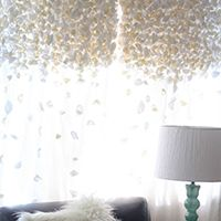 Knock-off Anthropologie Flutter Curtains -- and other brilliant DIY curtain ideas
