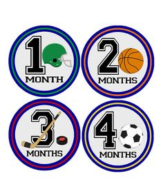 This All About Sports Monthly Age Growth Sticker Set by My Lullabug is perfect! #zulilyfinds