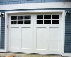 When a service technician from Englewood Garage Door Repair provides you with service, they will offer you a thorough job, done right. Our service technicians are capable of installing your garage door and the components associates with it. Garage Door Design, Garage Door Repair, Roll Up Garage Door, Garage Door Trim, White Garage Doors, Garage Door Styles, Garage House, House Front, Garages