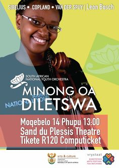 Poster for the National Youth Orchestra in Sesotho. South Africa Art, Art Festival, Orchestra, Youth, African, Culture, Winter, Design, Winter Time