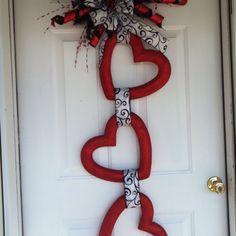 Día de San Valentín // La decoración de la puerta:
