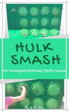 marvel birthday party Hulk Smash: A Super Fun Avengers Party Game Hulk Birthday Parties, Watermelon Birthday Parties, 5th Birthday Party Ideas, Superhero Birthday Party, Birthday Party Games, Birthday Fun, Superhero Party Favors, Superhero Birthday Invitations, Game Party
