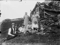 Picnic at a mountain farm - Strongfjordon, Norway - 1910