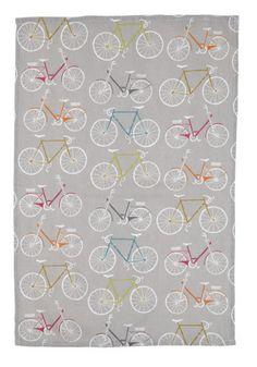 bike themed tea towel.. pretty