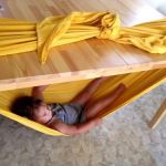 Boys Germs - Cool Finds, Ideas & DIY Projects Just For Boys Under the table hammock.  One word AWESOME.