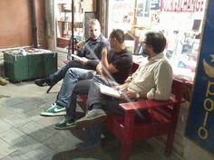 Gianluigi Bodi, Alessandro Garigliano e Alessandro Cinquegrani alla Libreria Marco Polo di Venezia.