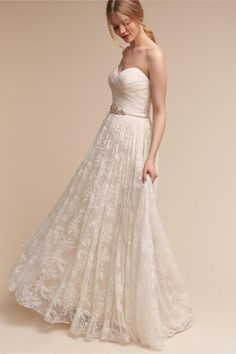 4d769bef70f BHLDN s Whispers + Echoes Freesia Gown in Ivory champagne. Wedding Saves