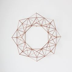 Geometric wreath.