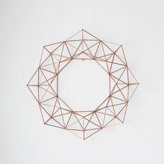 Geometric wreath.