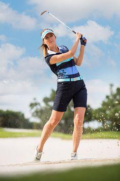 Daily-Sports-2016-Kollektion-FJ-Sommer-Spa-Blue-1_380x570 Team Uniforms, Golf Fashion, Play Golf, Golf Outfit, Ladies Golf, Lady, Cap Sleeves, Polo, Running