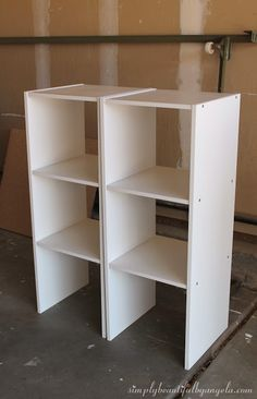 Simply Beautiful by Angela: DIY Storage Cabinet Using Cheap Cube Units