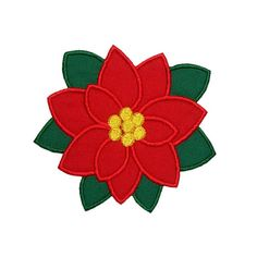 Poinsettia Applique Machine Embroidery Digital Design Holiday Winter Flower Christmas by HappyApplique on Etsy https://www.etsy.com/listing/236930428/poinsettia-applique-machine-embroidery