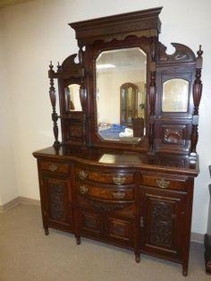 Lot #1 - Wonderful Antique Victorian Sideboard / Buffet