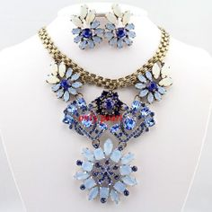 2013 New bubble set Gem Crystal Necklace Chunky by OnlyPearl, $26.40