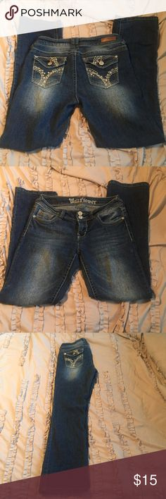 Wallflower jeans size 9 Bought at Kohls. Wallflower brand jeans. Size 9. Great condition, no signs of wear except what the manufacturer did to the jeans to distress them. Wallflower Jeans Boot Cut