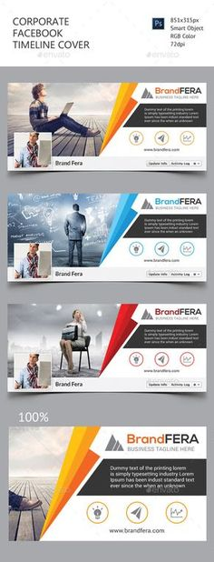 Corporate Facebook Timeline Cover Template PSD #design Download: http://graphicriver.net/item/corporate-facebook-timeline-cover/11452438?ref=ksioks