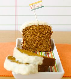 A can of pumpkin puree + boxed cake mix = easiest fall #dessert ever!