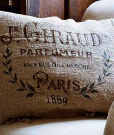 Paris,1889 - Perfume Pillow Slip Linen   French Charmed    ᘡղbᘠ