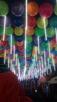 Where's our invite to this party using cascading or snowfall LED lights?