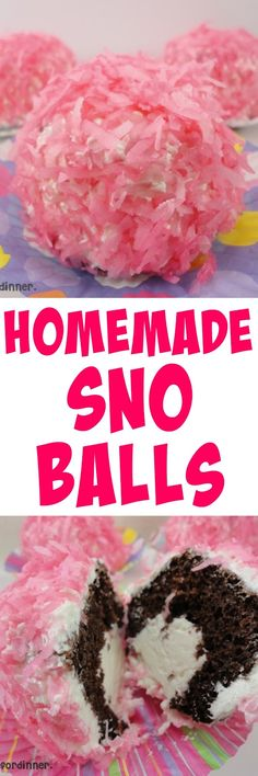 Do you remember eating those Hostess Sno Balls when you were a kid?  I do!     I got a  new cookbook  the other day and I love it.  The f...