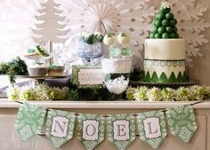 Christmas Dessert Buffet - Naatje Patisserie Cupcakes and Cakes