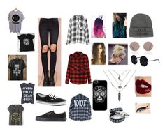 5SOS Style by paulaiglesias94 on Polyvore featuring polyvore, fashion, style, Rails, Cheap Monday, UNIF, Vans, Sunday Somewhere, Una-Home and Charlotte Tilbury