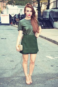 Holland Roden attends the Rachel Zoe fashion show