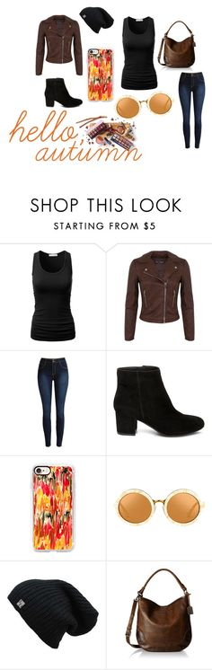 """hello, autumn"" by summerbarnesofficial ❤ liked on Polyvore featuring Miss Selfridge, Steve Madden, Casetify and Frye"