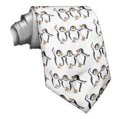 Dancing Penguins Neck Tie