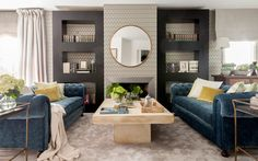 Santayana Home (House of Turquoise) Condo Living, Cozy Living Rooms, Living Room Colors, Living Room Designs, Living Room Decor, Romantic Living Room, Living Room End Tables, House Of Turquoise, Patio Furniture Sets